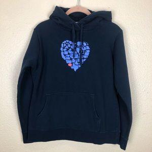 US States Heart, Washington Hoodie Sweatshirt